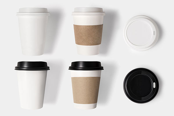 Paper coffee cups in Greenville