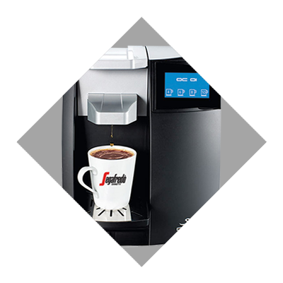 The OC system single serve coffee machine